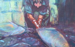 Pescadero en la lonja
