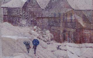 Pisando nieve en Sabero